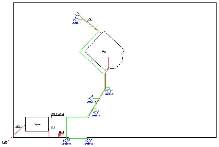 рис. 1. схему внешнего и внутреннего электроснабжения с указанием типов защитной аппаратуры, сечений и марок кабелей...